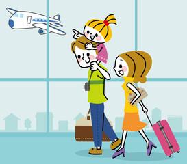 家族 旅行 空港