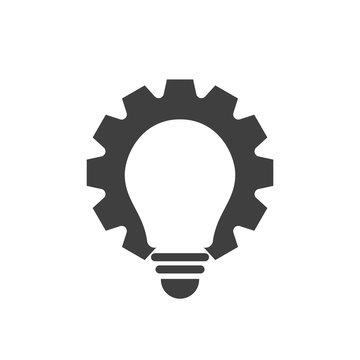 Gear bulb logo or icon design