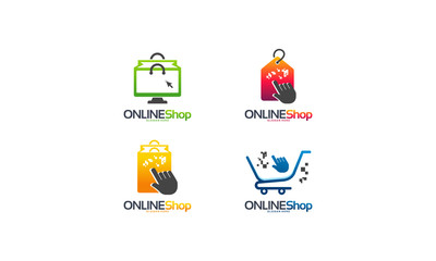 Set of Online Shop logo designs concept vector, Sales Retail logo designs template