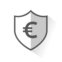 Flat Shield Icon - Euro Dollar
