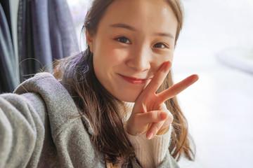 Selfie, Beautiful girl taken pictures of her self