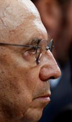 Brazil's Finance Minister Henrique Meirelles attends a news conference in Brasilia