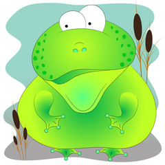 green cute toad