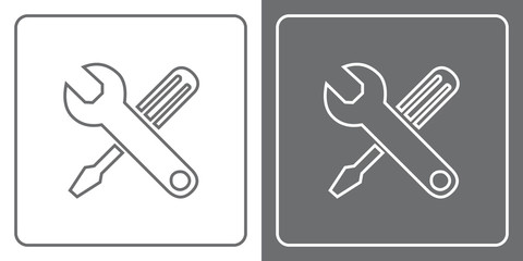 Flat Icon Button - Tools