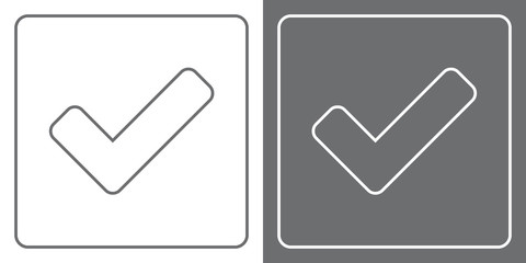 Flat Icon Button - Check/Tick