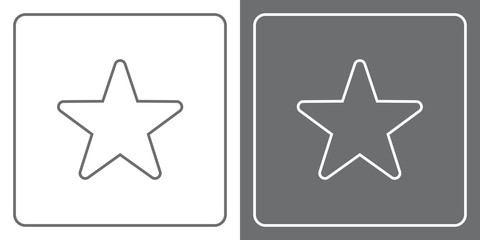 Flat Icon Button - Star