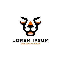 Tiger vector logo template