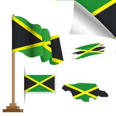 jamaica flags special vector illustration