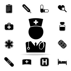 Medical Doctor icon. Set of Medecine and hospital icons. Premium quality graphic design. Sign sand symbols collection, simple icons for websites, web design