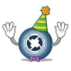 Clown 0X coin mascot cartoon