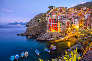 Papiers peints Ligurie Riomaggiore, the first city of the Cique Terre in Liguria, Italy