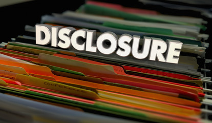 Disclosure Documents Background Information Facts 3d Illustration