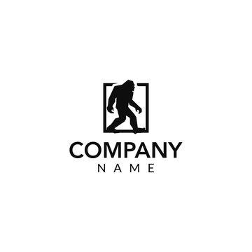 Bigfoot vector logo icon illustration