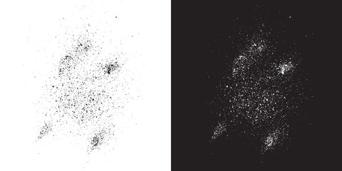 Black and White paint stains overlay vector texture