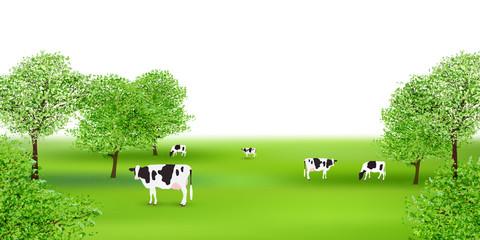 牛 牧場 風景 背景