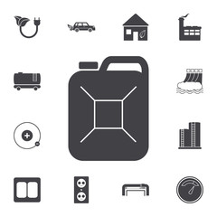 fuel canister icon. Set of energy icons. Premium quality graphic design icons. Signs and symbols collection icons for websites, web design, mobile app