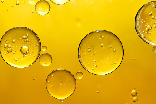 golden yellow bubble oil