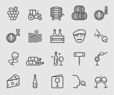 Wine line icon
