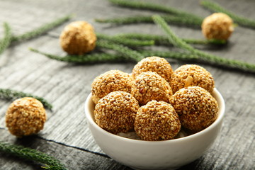 Healthy snack -sesame balls