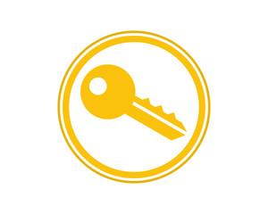 yellow key locked storage safe secure image vector icon