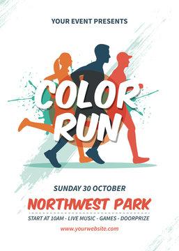 Color Run Flyer Template