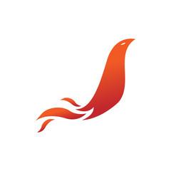 Bird Tail Fire Flames Element Emblem Symbol