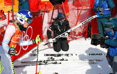 "US skier Lindsey Vonn's ski technician ""Magic Heinzi"" at the Winter Olympics 2018 in Pyeongchang"