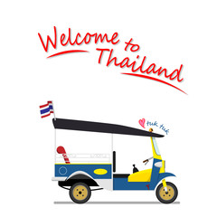tuk tuk is a local taxi vehicle with three wheels. ride tuk tuk is most popular activity for tourist  for sightseeing attraction around Bangkok, Thailand.