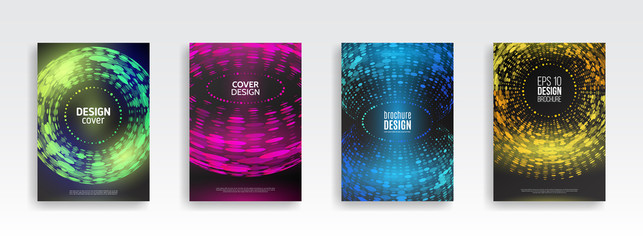 Abstract circles design background. Brochure template layout, cover design annual report, business flyer.