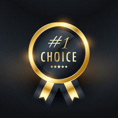 No. 1 choice vector label design
