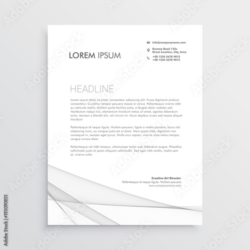 Simple letterhead vector design template stock image and royalty simple letterhead vector design template spiritdancerdesigns