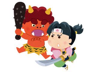 桃太郎VS赤鬼