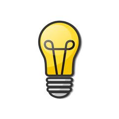Lightbulb - creative sketch draw vector illustration. Electric lamp logo sign. Business idea concept.