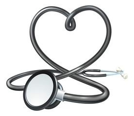 Heart Stethoscope Concept