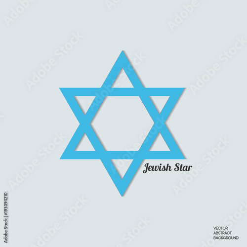 Jewish Star Star Of David Judaism Symbol Stock Image And Royalty