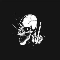 sketch of the skull vector illustration