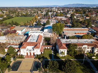 Aerial photo of Campbell in California