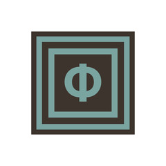 Vector symbol of letter Phi from the Greek alphabet