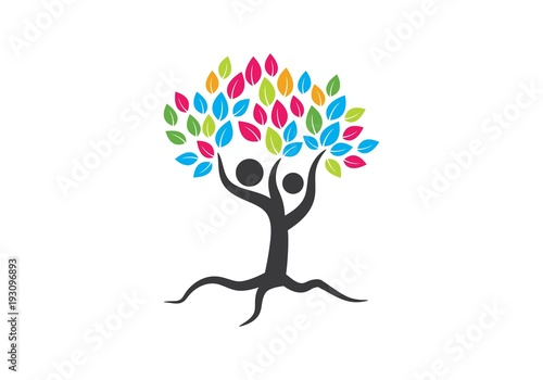 family tree symbol icon logo design fotolia com の ストック画像と