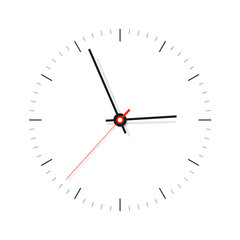 Simple Clock, minimalistic timer on white background. Business watch. Vector design element for you project