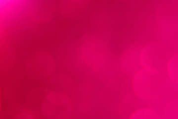 Abstract blurred colorful pink background with bokeh, photo