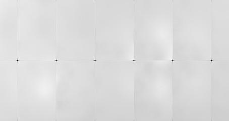 White Wall Panels Background (3d illustration)
