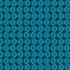 Teal circles vector pattern on a dark background