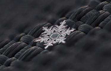 snowflake on a dark background