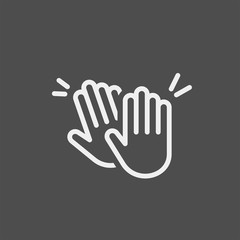 Applause flat vector icon