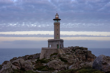 Punta Nariga Lighthouse at twilight
