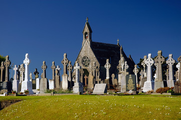 Bohermore Chapel and cemetery near Galway, Connemara, Ireland, Europe