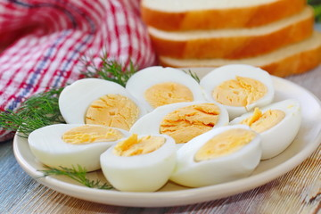 Boiled eggs for salad