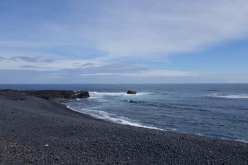 アイスランド共和国、スナイフェルス半島先端の海岸