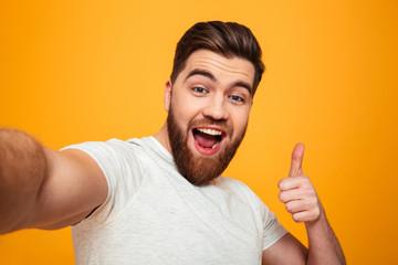 Portrait of a happy bearded man